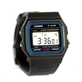 Casio Standard นาฬิกาข้อมือ รุ่น F-91 (Black) - 3