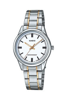Casio Standard นาฬิกาข้อมือสุภาพสตรี Silver/Gold สายสแตนเลส รุ่น LTP-V005SG-7AUDF