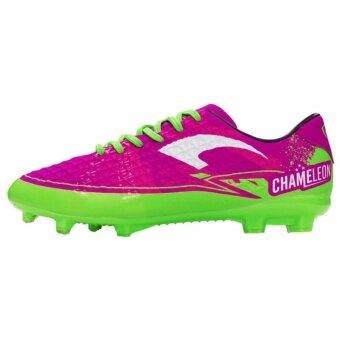 รองเท้าฟุตบอลแกรนด์สปอร์ต รุ่น CHAMELEON(สีชมพู่เขียว) สีใหม่!!