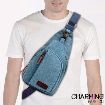 Charming กระเป๋าสะพายข้าง Shoulder Bag กันน้ำ ทนทาน (ฺสีฟ้า) รุ่น B805