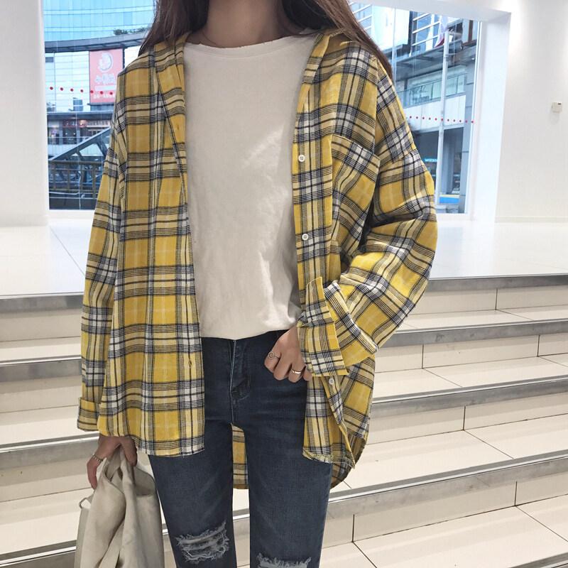 Chic เสื้อเวอร์ชั่นเกาหลีใหม่บางเวตเตอร์ถักเสื้อหญิงเสื้อ (สีเหลือง)