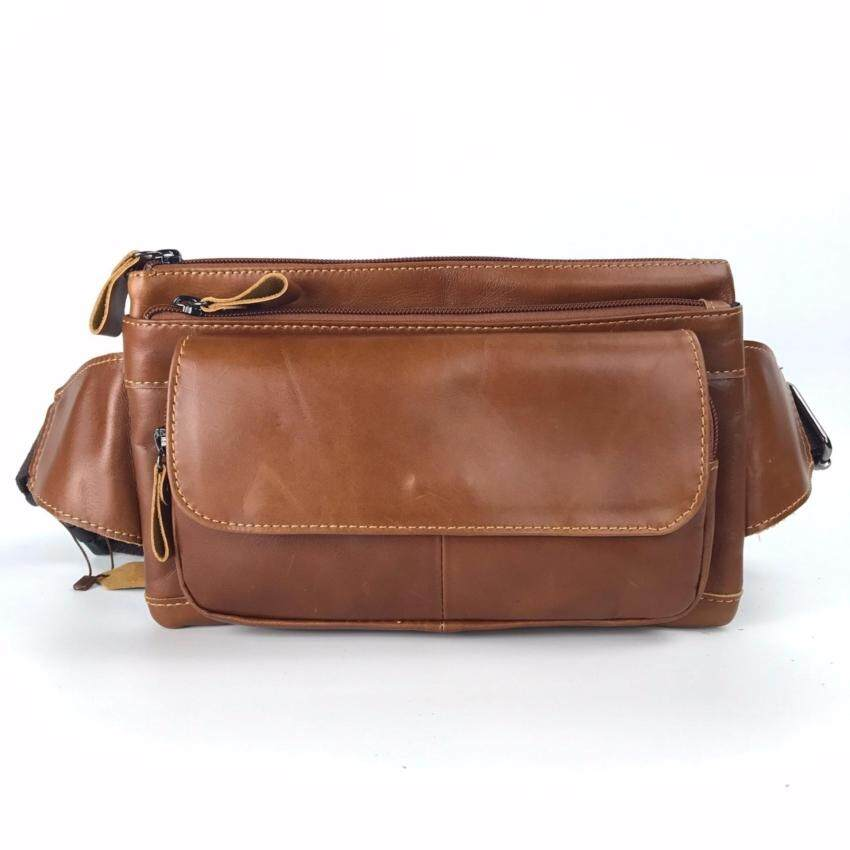 Chinatown Leather กระเป๋าหนังแท้ คาดเอว สะพายหน้าอก สีแทน