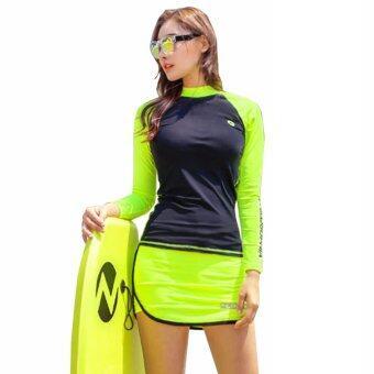 ชุดว่ายน้ำแขนยาว PHILO Skirt Rash Guards ไซต์ M-XL # 7181