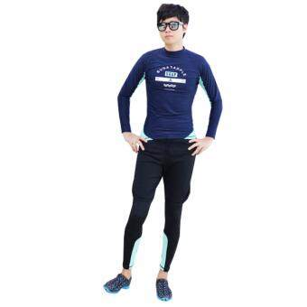 ชุดว่ายน้ำผู้ชาย แขนยาว ขายาว เซ็ต 3 ชิ้น SGAP # 17160