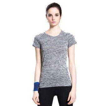 CK Sports T-Shirt เสื้อยืดออกกำลังกาย สำหรับผู้หญิง เล่นฟิตเนส โยคะออกกำลังกายกลางแจ้ง สีเทา