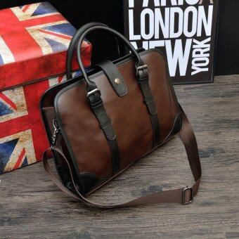 Classic Britian Multifunctional Large Capacity Leather Business Bag\n- intl