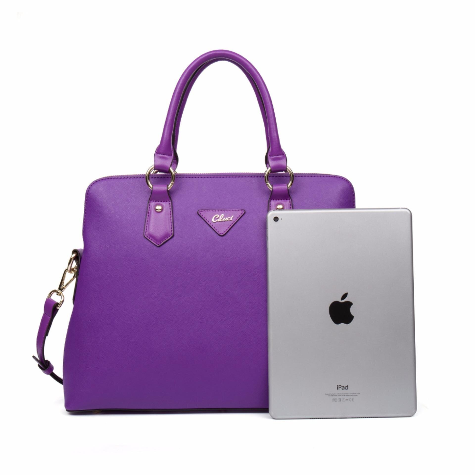 CLUCI Source · CLUCI Women s Genuine Cowhide Leather Handbag Casual Shoulder BagPurple intl