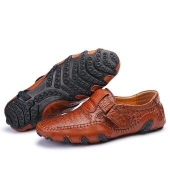 CLZQ Men Genuine Leather Breathable Business Shoes (Brown) - intl - 5
