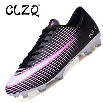 CLZQ Professional Football Boots Hard Court Turf Soccer ShoesFootball Shoes Large Size 31-46(Black) - intl