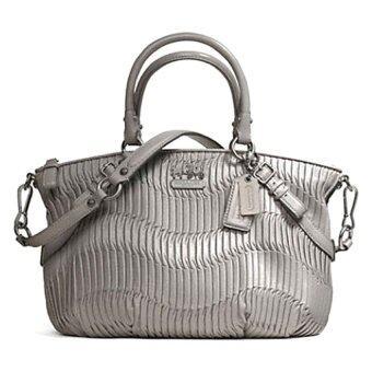 รีวิว Coach กระเป๋าสะพายมีหูหิ้วสำหรับผู้หญิง รุ่น 23748 สีเทา