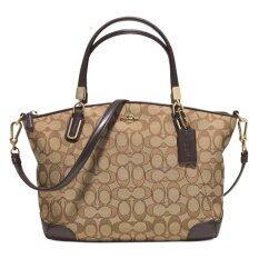 Coach กระเป๋าสะพายมีหูหิ้วสำหรับผู้หญิง รุ่น 33737 (สีน้ำตาล)