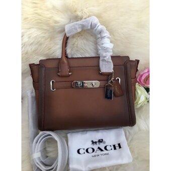 ต้องการขาย Coach 38372 Swagger 27 กระเป๋าถือสะพายหนังสีน้ำตาล IN BURNISHEDLEATHER