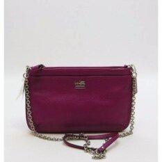 Coach 48515 Madison Leather Zip Crossbody Bag Magenta