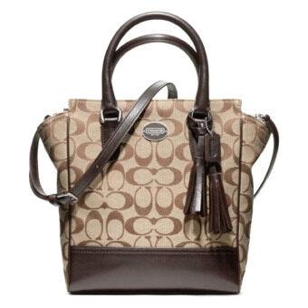 Coach กระเป๋าสะพายมีหูหิ้วสำหรับผู้หญิง รุ่น 48879 สีมะฮอกกานี