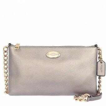 ต้องการขาย Coach 52709 Quinn Metallic Leather Crossbody Bag
