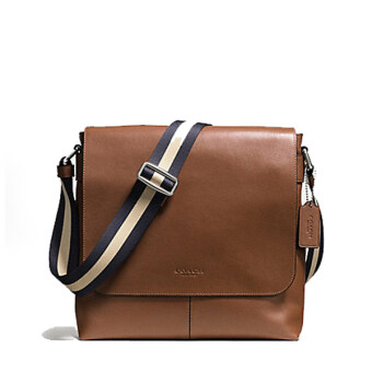 COACH กระเป๋า CHARLES SMALL MESSENGER IN SPORT CALF LEATHER F72362 (DARK SADDLE)