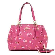 COACH CHRISTIE CARRYALL IN WILDFLOWER PRINT COATED CANVAS รุ่น 37421 Dahlia