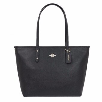 COACH กระเป๋า CITY ZIP TOTE IN CROSSGRAIN LEATHER F58846 IMBLK(IM/BLACK)