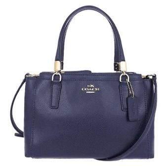 Coach Crossgrain Leather Mini Christi Purse Handbag รุ่น 34797 - Midnight