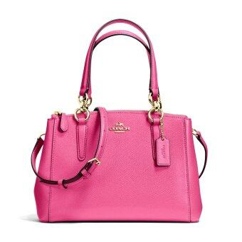 Coach กระเป๋า F36704 MINI CHRISTIE CARRYALL IN CROSSGRAIN LEATHER(IMDUL)
