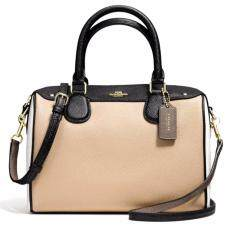 กระเป๋า COACH F57498 MINI BENNETT SATCHEL IN GEOMETRIC COLORBLOCK CROSSGRAIN LEATHER (IMLLG)