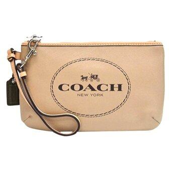 Coach Horse and Carriage Medium Wristlet รุ่น 51788 (Light Khaki)