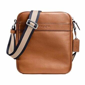 Coach Men 54782 LEATHER SHOULDER CROSSBODY FLIGHT BAG สีน้ำตาลอ่อน