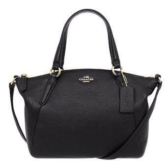 ลดราคา COACH กระเป๋า MINI KELSEY SATCHEL IN PEBBLE LEATHER F57563 IMBLK (IM/BLACK)
