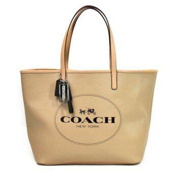 COACH PARK METRO HORSE AND CARRIAGE TOTE SHOULDER BAG รุ่น 31315 - Khaki