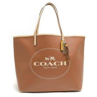 COACH PARK METRO HORSE AND CARRIAGE TOTE SHOULDER BAG รุ่น 31315 - Saddle