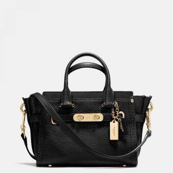 COACH SWAGGER 20 IN PEBBLE LEATHER STYLE NO.36235 (BLACK)