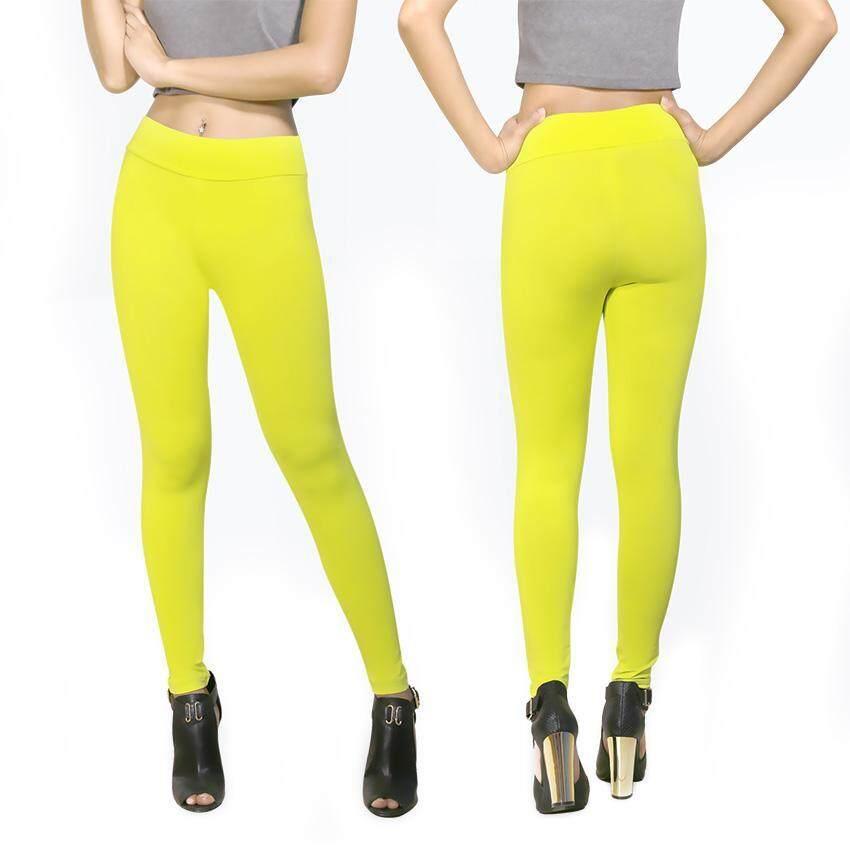 Color's Mood Slim Legging กางเกงเลกกิ้งเรียบหรู ใส่ได้ทุกโอกาส หลากอารมณ์ ใส่ทำงาน ท่องเที่ยว ฟิตเนส โยคะ เอวสูงเก็บส่วนเกิน กระชับสัดส่วน สวยมั่นใจในทุกกิจกรรม One Size M-XL Color15 Green 1 ชิ้น