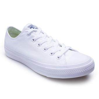 Harga Converse รองเท้าผ้าใบ รุ่น CHUCK TAYLOR ALL STAR II OX WHITE /WHITE 121006077WW (WHITE)