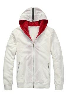 Cosplay Men's Assassin's Creed Desmond Miles Embroidery HoodieJacket (White)