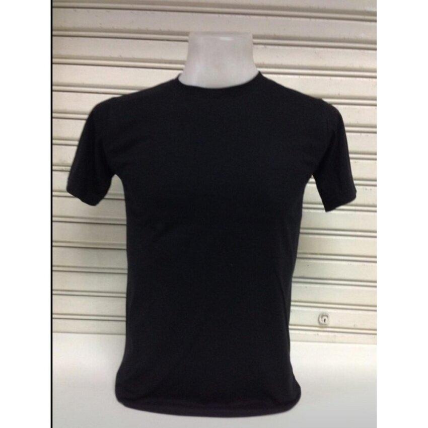 เสื้อยืดคอกลม สีดำ  Cotton c32 เกรด A