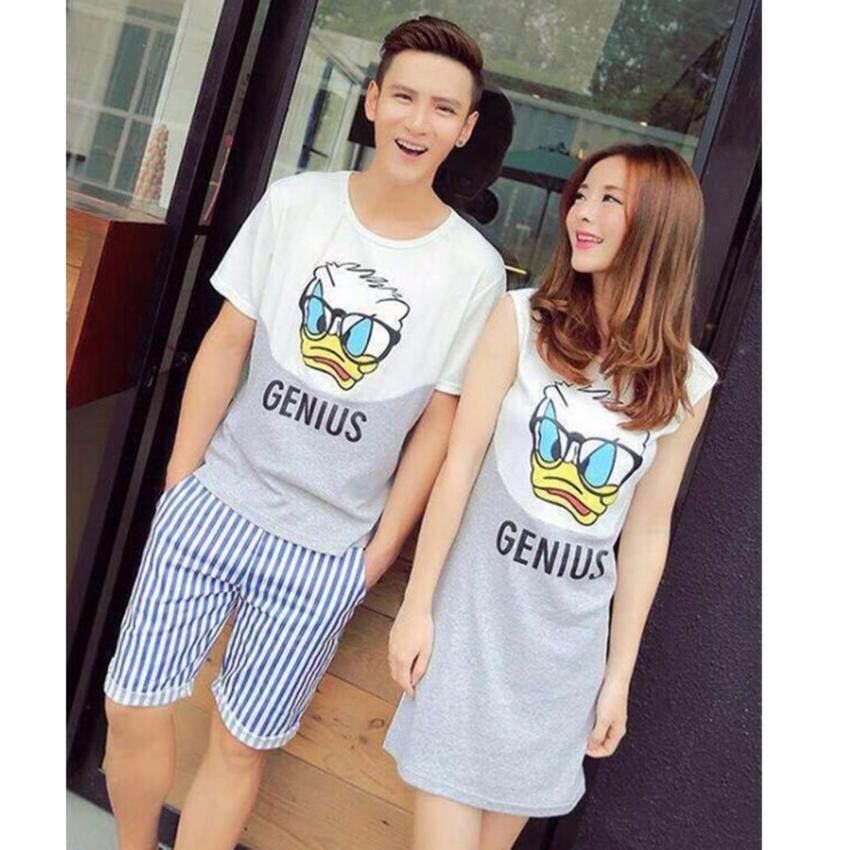 ชุดเสื้อคู่รัก ชุดพรีเว็ดดิ้ง Couple dress and T-Shirt  CF-G00039Onesize2