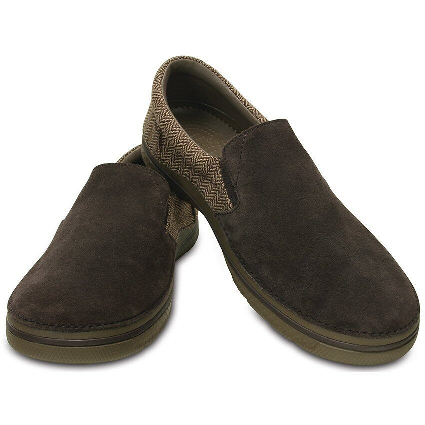 CROCS-CrocsNorlinHerringboneSliponM-Espresso/Walnut-M10(US)