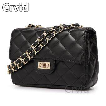 Crvid Fashion กระเป๋าสะพายพาดลำตัว Premium Crossbody (black)
