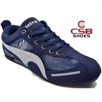 CSB Design รองเท้าผ้าใบผู้ชาย CSB Design รุ่นใหม่ SL90061 (สีกรม)