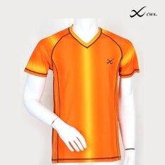 CW-X เสื้อแขนสั้น ผู้ชาย OUTER WEAR รุ่น IC6277OR (สีส้ม)