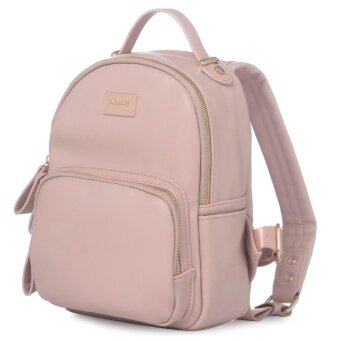 DAVIDJONES Genuine Leather Small Mini Backpack
