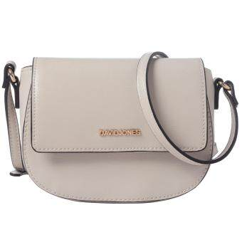 DAVIDJONES Mini Crossbody Saddle Bag (BEIGE)