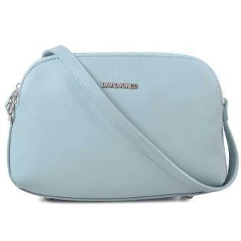 DAVIDJONES Multi-Pocket Crossbody Purse Bag (BLUE)