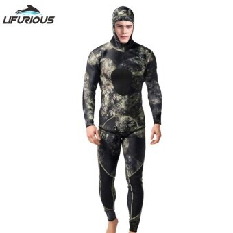 Diving Suit Neoprene 3mm Men Pesca Diving Split Suits Combinaison Wetsuit Snorkel Swimsuit Surf Wetsuit - intl