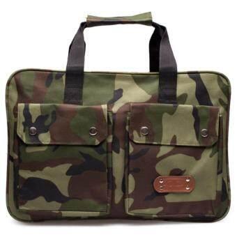DM กระเป๋าเอกสารลายทหาร KCAJ (สีเขียว/น้ำตาล)