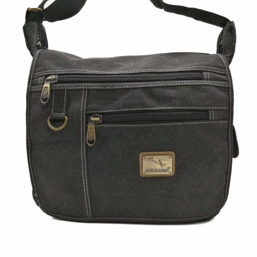 ขาย กระเป๋าสะพายข้าง DOLPHIN BAG สำหรับผู้ชาย รุ่น 5901 สีดำ