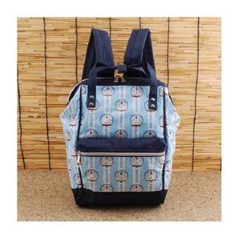 DORAEMON handbags กระเป๋าเป้โดเรมอน กระเป๋าโดเรม่อนแบบเป้สะพาย-สีฟ้า สินค้าโดเรมอนของแท้ 100%