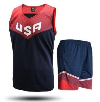 Harga Dream Team 11 USA Team USA Basketball Clothes Suit Racing SuitBlack and White Jersey James - intl