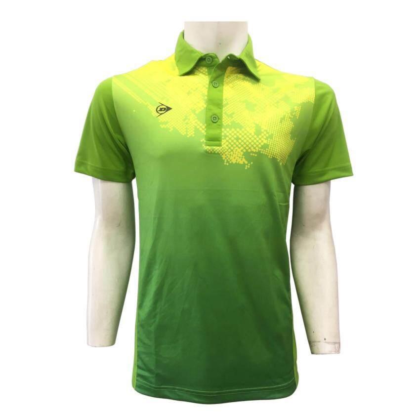 DUNLOP เสื้อกีฬา รุ่น D MEN POLO (สีเขียว/สีน้ำเงิน)
