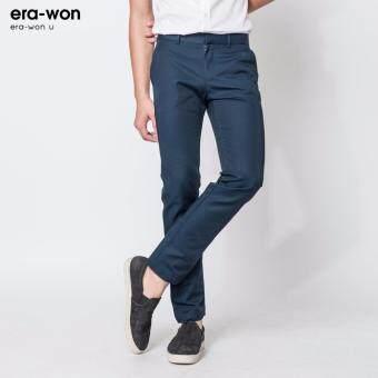 era-won กางเกงสแลคขายาว ทรงกระบอก era-won U กรมท่า(Navy) - 5